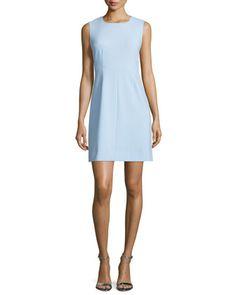 Carrie Sleeveless Sheath Dress, Blue Cloud by Diane von Furstenberg at Neiman Marcus.