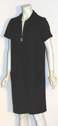 60s Black Mod Dress