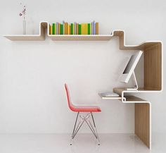 Awesome desk and shelves!