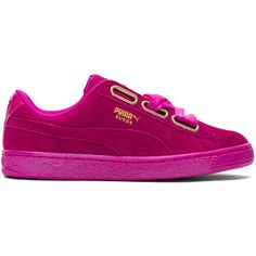 Puma Suede Heart Satin Sneaker (£61) ❤ liked on Polyvore featuring shoes fc5876f7f