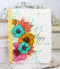 PTI Bold Blossoms + Turning a New Leaf + Background Basics: Text Style (Melissa Phillips)