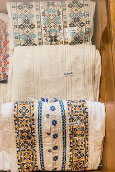 """pocarovna: """"Embroidery madness - photos of embroidered men´s shirts of Slovakia, Novohrad area (the name tag labels the village name) """" Folk Embroidery, Bed Pillows, Boho, Pictures, Photos, Madness, Shirts, Fashion, Pillows"""