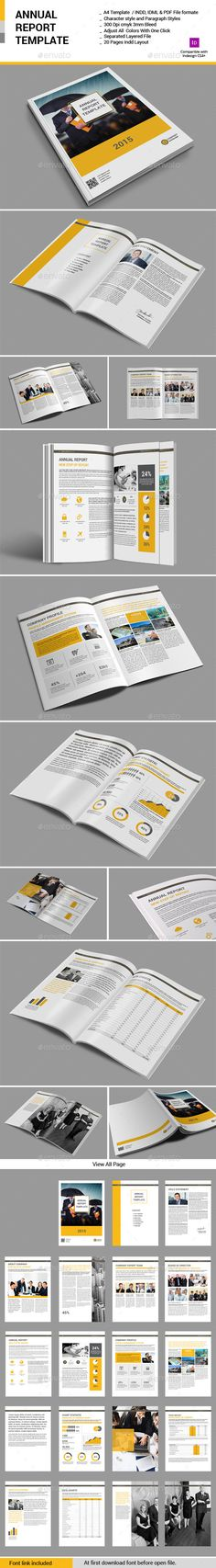 Annual Report Template 48 Pages - company report template
