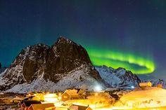 Aurora Borealis and the village of Hamnøy by Alex Conu