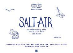 Salt Air Cafe in Venice, CA - logo - logo design - branding - logo mark - ocean inspired - beachy brand