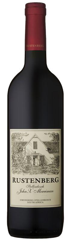 Cabernet Sauvignon / Merlot /Petit Verdot / Malbec / Cabernet Franc 2011 *John X Merriman* - Rustenberg Estate, Western Cape ------------------------------ Terroir: Stellenbosch (Coastal Region) - Western Cape Fun Drinks, Alcoholic Drinks, Beverages, South African Wine, Merlot Wine, Just Wine, Best Red Wine, Wine Label Design, Wine Packaging