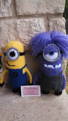 Set of 2 Minion Amigurumi Dolls. Get your by CraftingWithSharp, $45.00