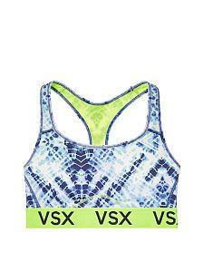 Victoria SportNEW! The Player by Victoria's Secret Racerback Sport Bra: Blue Tie-Dye (4 of 4)