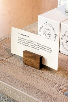 Sign holder idea for a craft fair table to hold pricing or product information