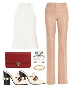 """Untitled #2440"" by annie-leah ❤ liked on Polyvore featuring Marco de Vincenzo, A.L.C., Gucci and Alexander McQueen"