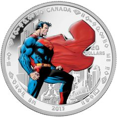 2015 Superman 1//4 Oz Silver Canadian Mint $20 Coin DC Comics New In Packaging!