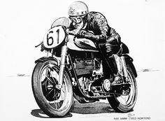 Ray Amm, a Norton Manx o Inglês e outras histórias! Anos 1970, devia ser depois de 72, eu andava muito mais de moto do que de carros, sempre soube que com meus 1.90 e 90 kg nunca iria pilotar uma numa pista, mas chovesse ou não lá estava eu uma delas. Na época eu tinha uma BMW R60/5 prateada que havia comprado na CEBEM com o Kiki Kraus e o Agnaldo de Goes, era nesta moto que quando trabalhei com o Expedito Marazzi ele andava pelo autódromo de Interlagos de pé no selim, fazia isto pois as…