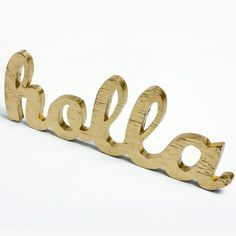 holla wood sign made from upcycled wood by OhDierLiving on Etsy, $42.00