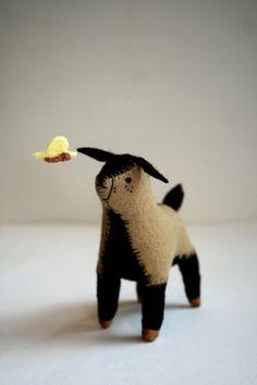 little felt goat.  #softie