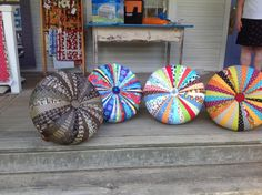 """Checkout some of the results from my Tuffet Workshop at the Waterwheel House.  The next workshop is October 8th and 9th.  Call the shop to register @ 802-824-5700.  Become A """"Tuffetteer"""" Today!"""