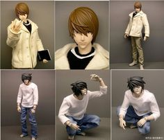 Death Note Figure Dolls - L and Light Yagami by ~StoneColdDead on deviantART