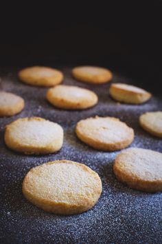 Low-Carb Sugar Cookies on a baking sheet