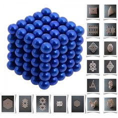 125pcs 5mm DIY Buckyballs Neocube Magic Beads Magnetic Toy Dark Blue.  Check this out at the Tmart link on MomTheShopper.