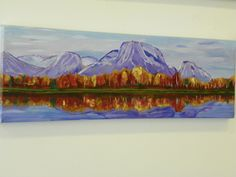 Acrylic Painting - Purple Mountains - www.harrisartstudio.com