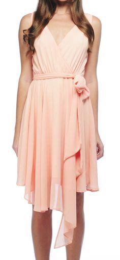 Pink Chiffon Tie Dress / bb dakota