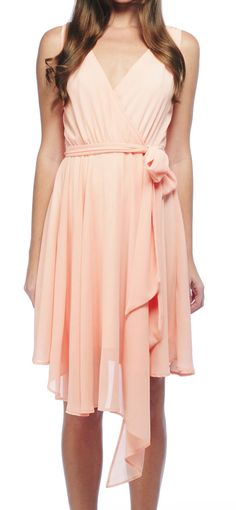 Pink Chiffon Tie Dress / bb dakota