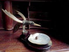 Wonderful Rare Antique Vintage Bird Oyster by OblitusThesauros