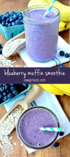 cool Blueberry Muffin Smoothie