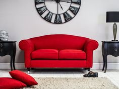 Pin for Later: 15 Serious Statement-Making Sofas For All Budgets Living It Up Red Gideon Sofa (£709)