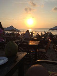 Early dinner onJimbaran beach...