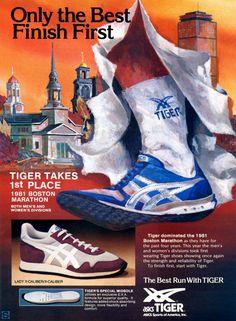 Vintage Ad: ASICS Tiger X-Caliber - 1981 Boston Marathon | Sole Collector