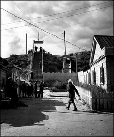 Robert Capa - USSR. Stalingrad. 1947. Main industries are sturgeon fishing and export of caviar.