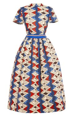 Myrtle Printed Waxed Cotton Party Dress by Stella Jean - Moda Operandi