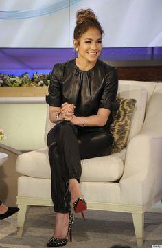 Jennifer Lopez Dons A Leather Jumpsuit On The 'Katie' Show (PHOTOS)