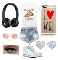 """""""Untitled #7"""" by jemima-hart ❤ liked on Polyvore featuring One Teaspoon, Converse, Beats by Dr. Dre, Ray-Ban and Casetify"""