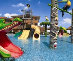 I love this place! One of the best resorts for a family vacay!! Kids Club Pool at Moon Palace #familyvacation