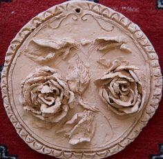 valentina majer piastrelle artistiche: piastrelle in terracotta floreali