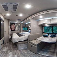 Small Camper Vans, Camper Boat, Small Campers, Truck Camper, Bus Motorhome, Motorhome Interior, Van Interior, Cargo Trailer Camper Conversion, Class B Motorhomes