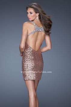 See this LaFemme Prom Dress and other Short Prom Dresses at Bridal & Formal by RJS in Nashville, TN Tel 6155220201