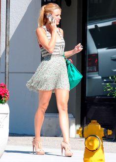"""Blake Lively en locación de """"Gossip Girl""""  en Los Ángeles en agosto de 2011.-  Getty Images"""