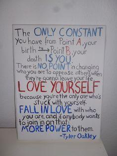 tyler oakley :) words of wisdom my fine sir