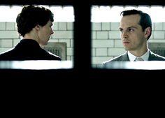 Sherlock and Jim. Moriarty. Benedict Cumberbatch.