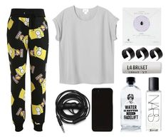 """Bart Simpson Sweatpants"" by eva-jez ❤ liked on Polyvore featuring Monki, Urbanears, Aquaovo, NARS Cosmetics, L:A Bruket, Dogeared, ASOS, comfy, sweatpants and bartsimpson"