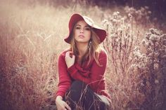 Nov 2019 - Photographic Print: Young Woman Outdoors Wearing a Red Hat by Sabine Rosch : Young Girl Photography, Country Girl Photography, Portrait Photography Poses, Photography Poses Women, Portrait Poses, Grunge Photography, Urban Photography, White Photography, Newborn Photography