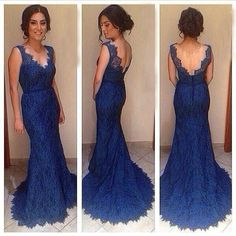 7c960f3548 Lace Prom Dresses Floor Length Pst0359