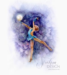 #rhythmicgymnastics #rhythmic #gymnastics #rg #gymnast #dance #art #painting #waterpaint Ballet Drawings, Dancing Drawings, Bff Drawings, Cool Drawings, Ballet Painting, Ballet Art, Pictures To Draw, Art Pictures, Illustration Art Drawing