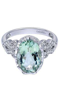 Green Amethyst Ring ♥