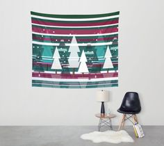 Available in three distinct sizes, these Wall Tapestries are made of 100% lightweight polyester with hand-sewn finished edges. Featuring vivid colors and crisp lines, these highly unique and versatile tapestries are durable enough for both indoor and outdoor use. Machine washable for outdoor enthusiasts, with cold water on gentle cycle using mild detergent - tumble dry with low heat.