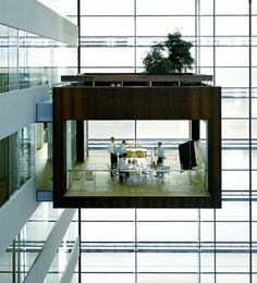Suspended Meeting Room by Schmidt Hammer Lassen.