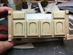 Dollhouse Miniature Furniture - Tutorials | 1 inch minis: KITCHEN CABINETS - How to make contemporary kitchen cabinets from mat board. FINIS...