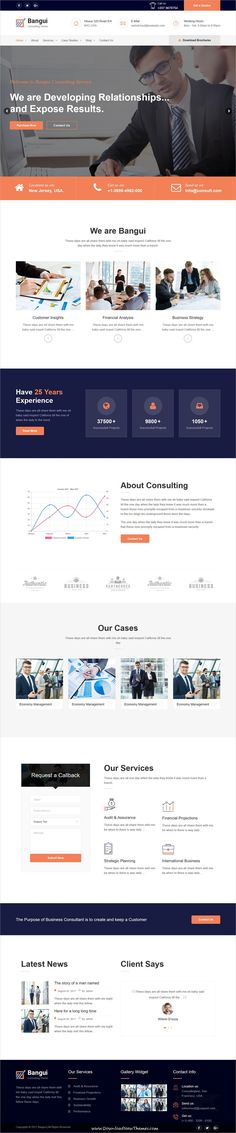 Bangui is clean and modern design 2in1 responsive #WordPress theme for #business #consulting website to live preview & download click on Visit
